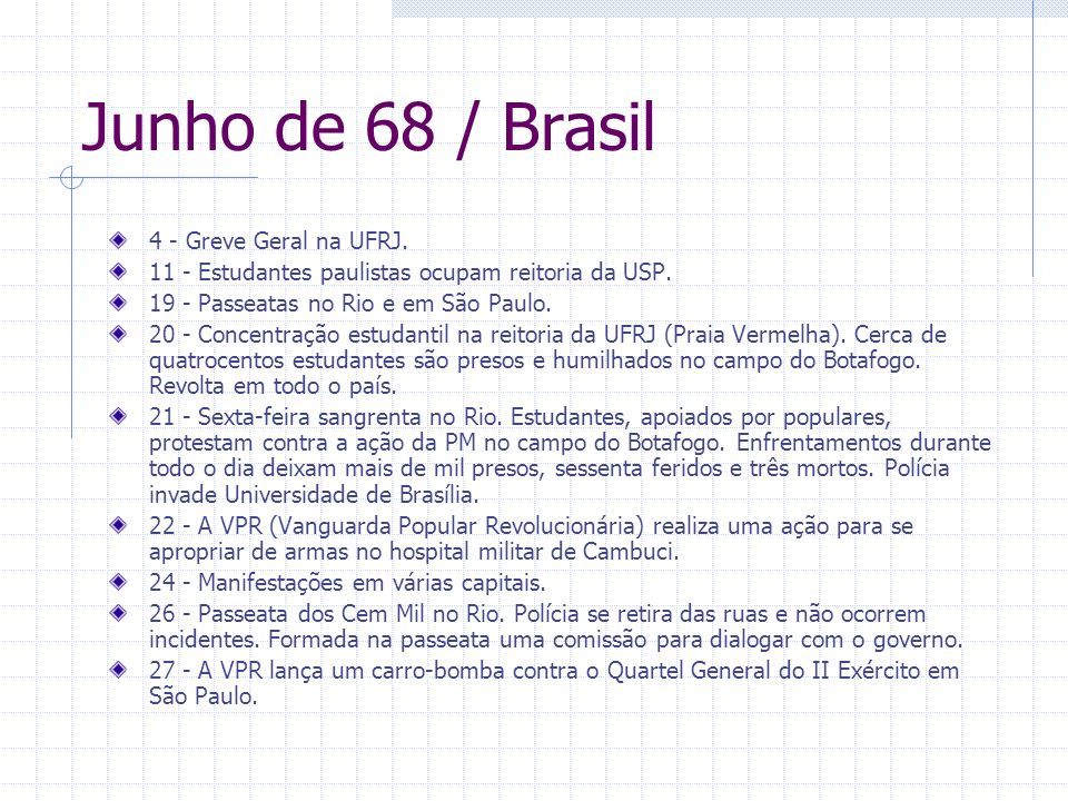 Junho de 68 / Brasil 4 - Greve Geral na UFRJ.