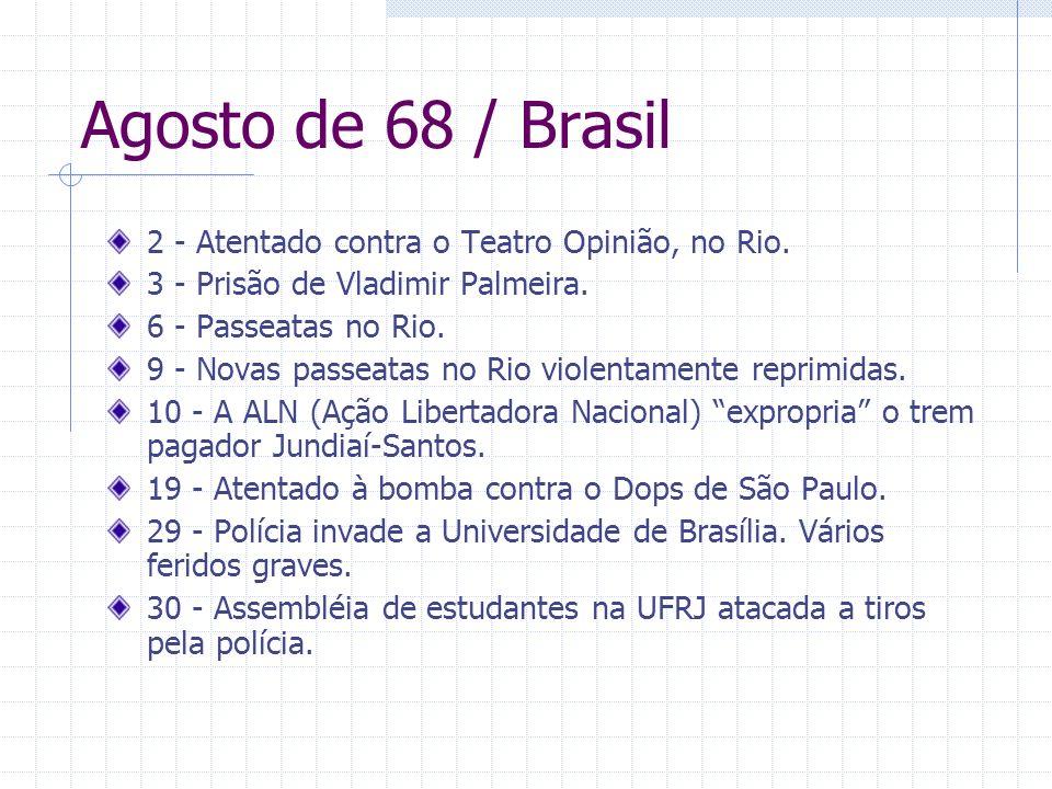 Agosto de 68 / Brasil 2 - Atentado contra o Teatro Opinião, no Rio.