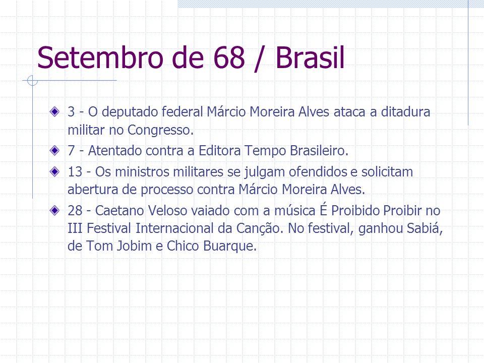 Setembro de 68 / Brasil 3 - O deputado federal Márcio Moreira Alves ataca a ditadura militar no Congresso.