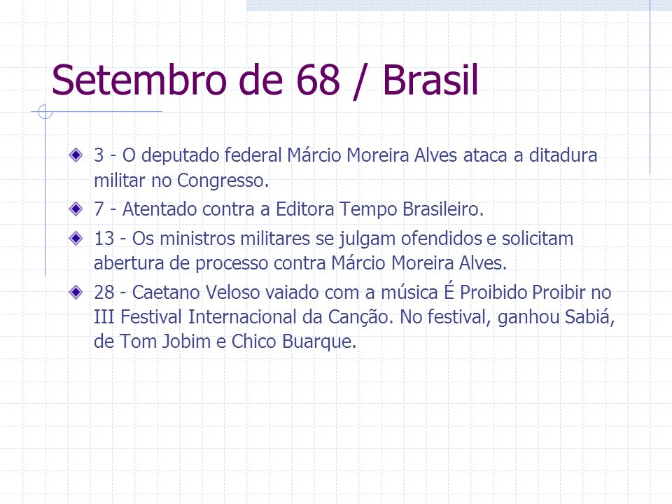 Setembro de 68 / Brasil3 - O deputado federal Márcio Moreira Alves ataca a ditadura militar no Congresso.
