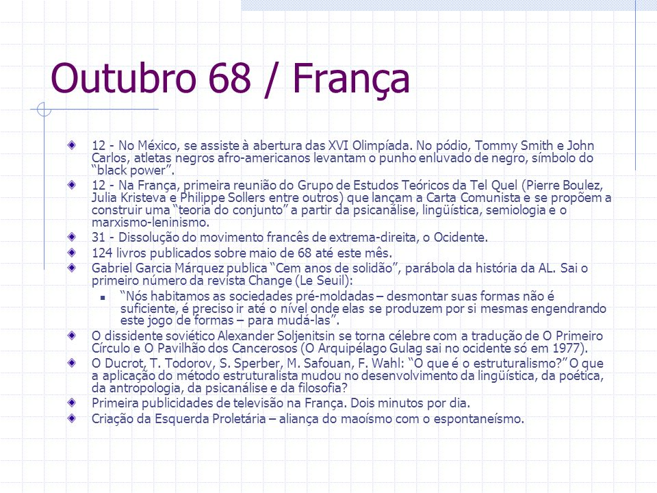 Outubro 68 / França