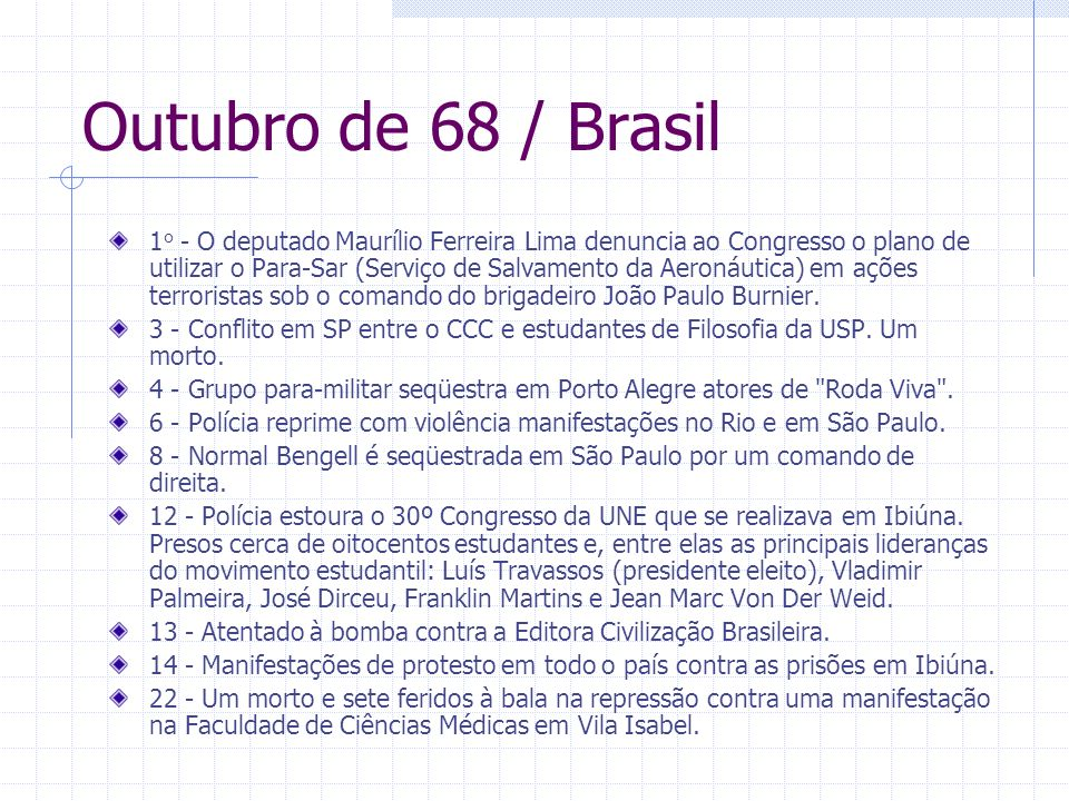 Outubro de 68 / Brasil