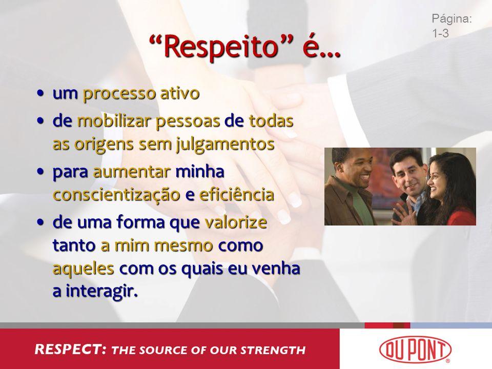 Respeito é… um processo ativo