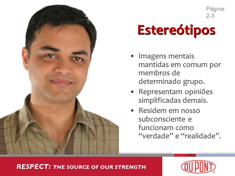 Página: 2-3 Estereótipos. Imagens mentais mantidas em comum por membros de determinado grupo. Representam opiniões simplificadas demais.