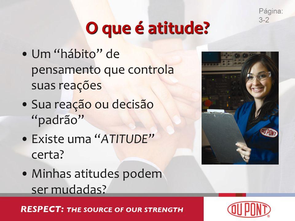O que é atitude Um hábito de pensamento que controla suas reações