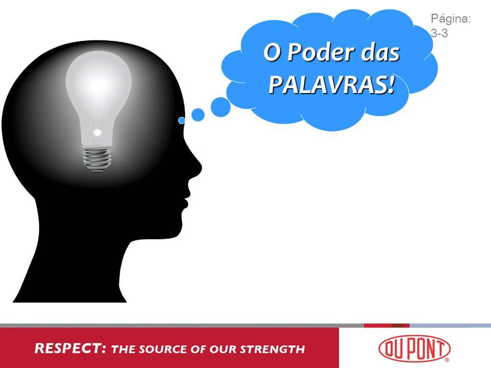 Página: 3-3 O Poder das PALAVRAS!