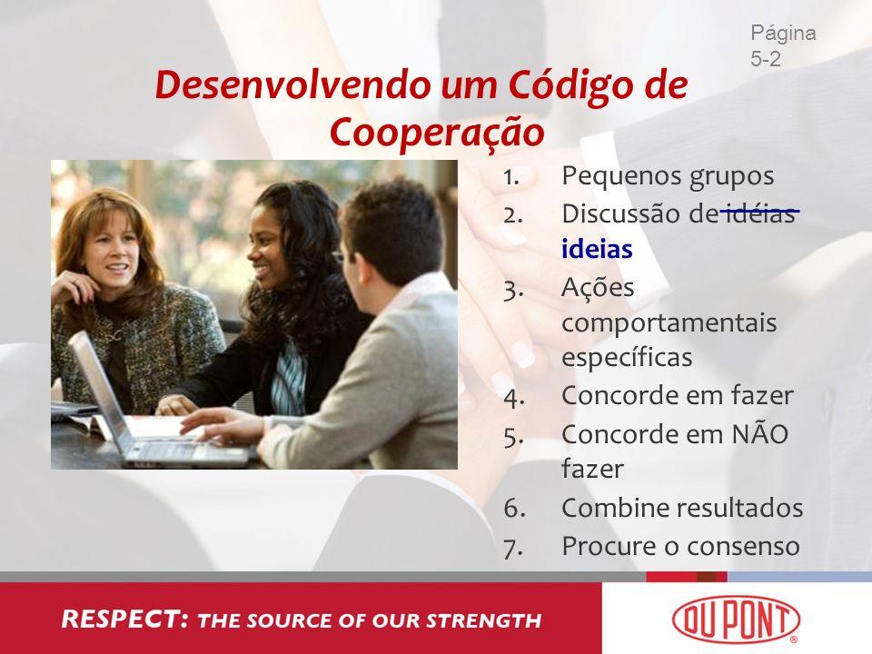Desenvolvendo um Código de Cooperação