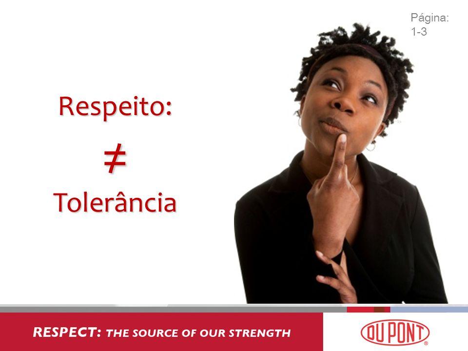 Respeito: ≠ Tolerância