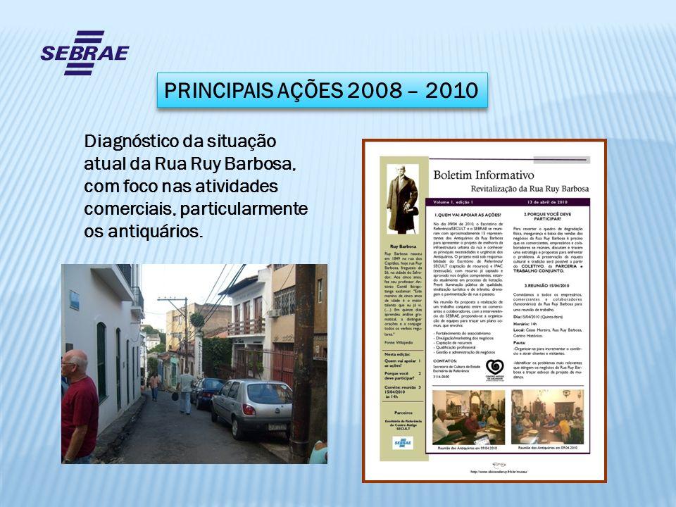 PRINCIPAIS AÇÕES 2008 – 2010 Diagnóstico da situação