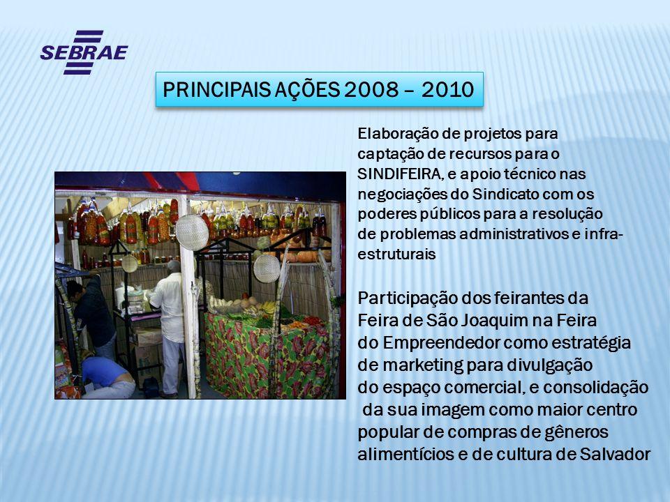PRINCIPAIS AÇÕES 2008 – 2010 Participação dos feirantes da