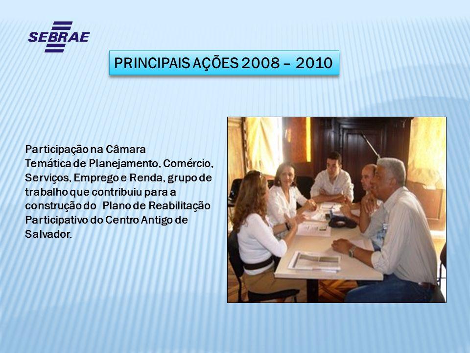 PRINCIPAIS AÇÕES 2008 – 2010 Participação na Câmara