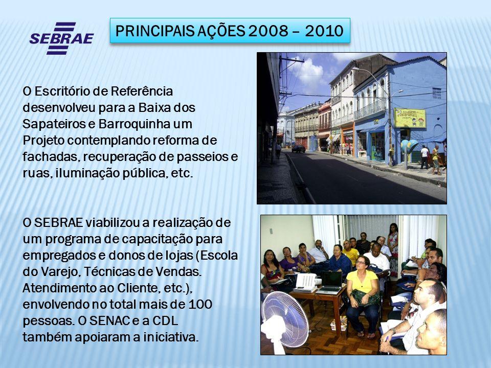 PRINCIPAIS AÇÕES 2008 – 2010 O Escritório de Referência