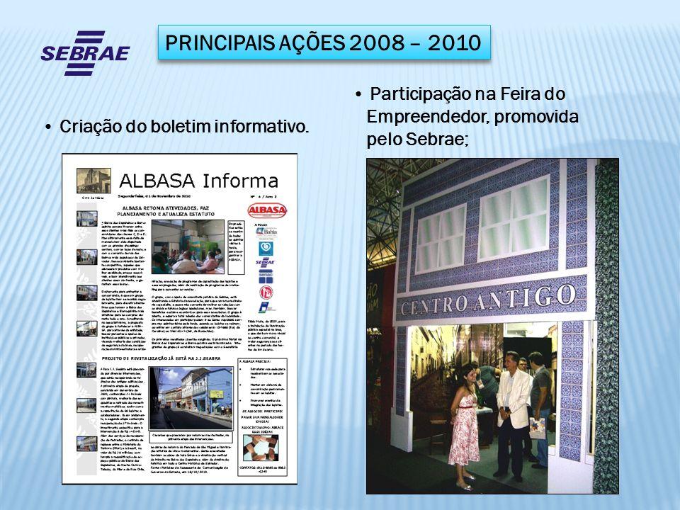 PRINCIPAIS AÇÕES 2008 – 2010 Participação na Feira do