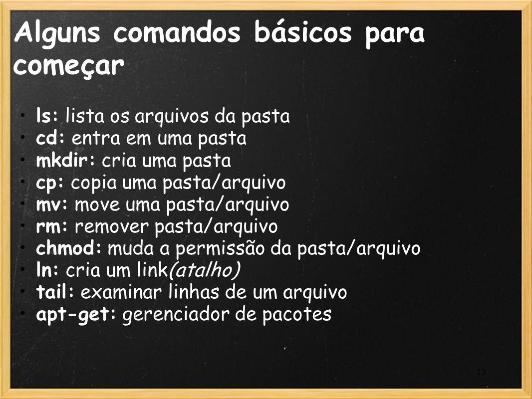 Alguns comandos básicos para começar