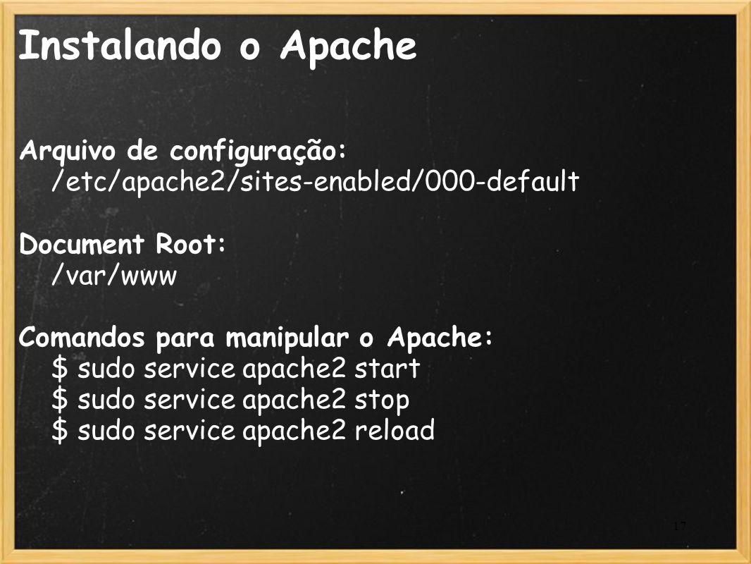 Instalando o Apache Arquivo de configuração: