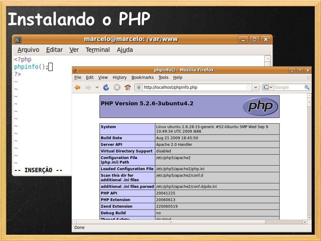 Instalando o PHP