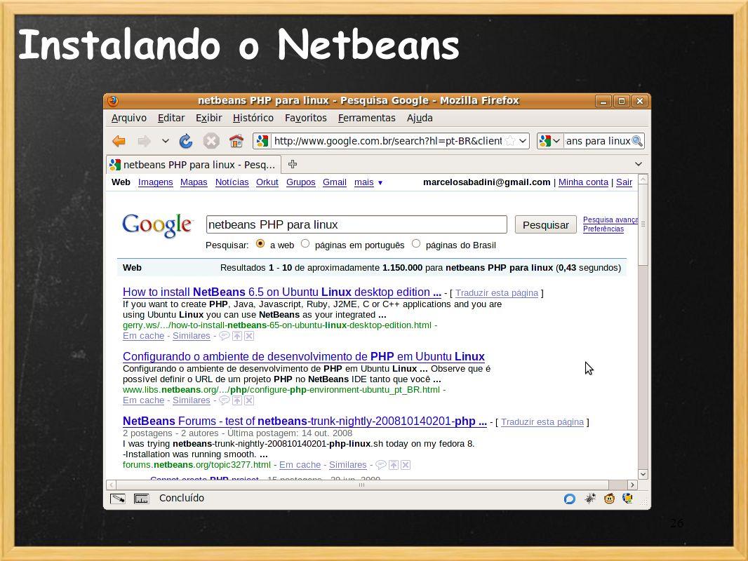Instalando o Netbeans