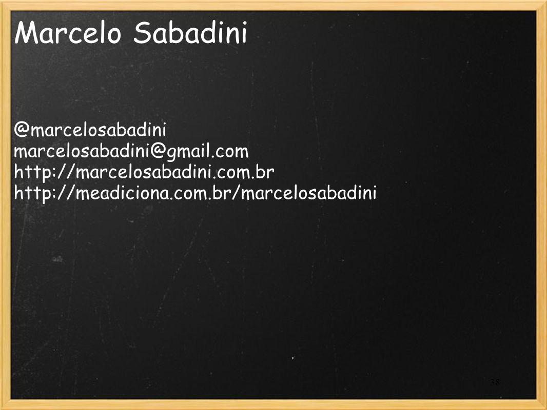 Marcelo Sabadini @marcelosabadini marcelosabadini@gmail.com