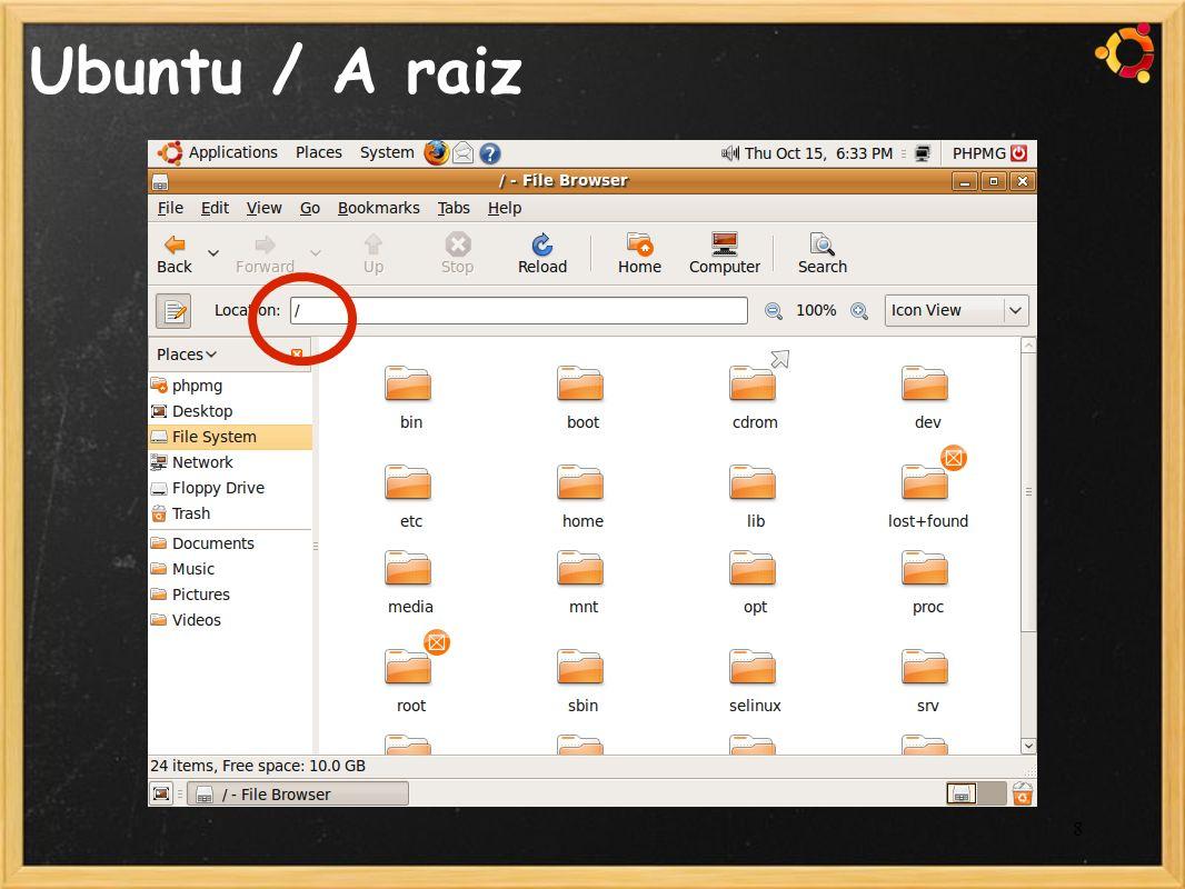 Ubuntu / A raiz