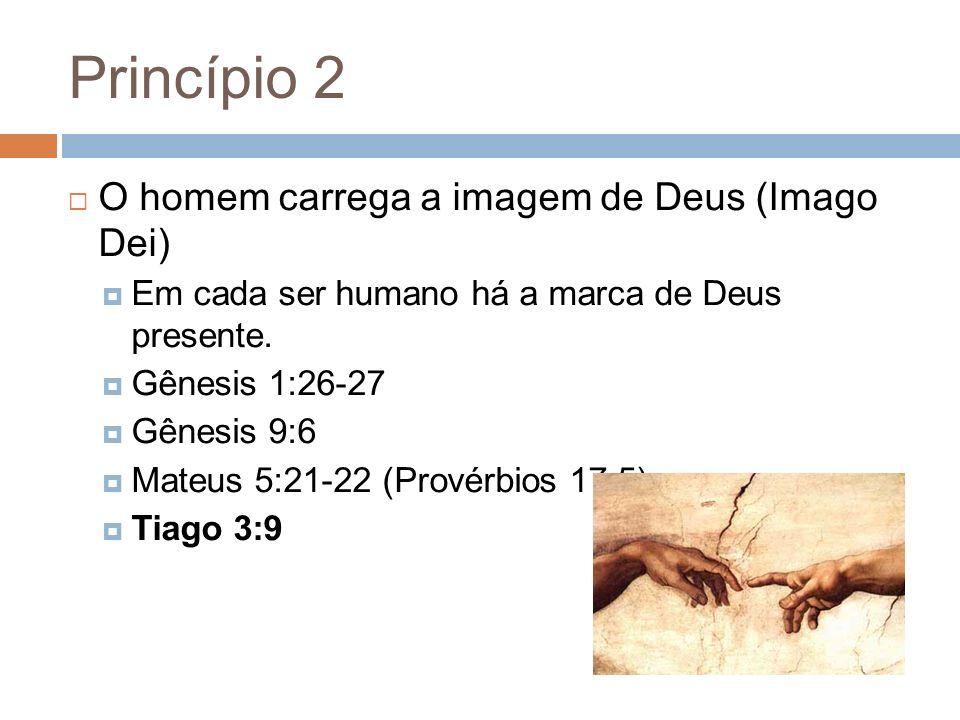 Princípio 2 O homem carrega a imagem de Deus (Imago Dei)