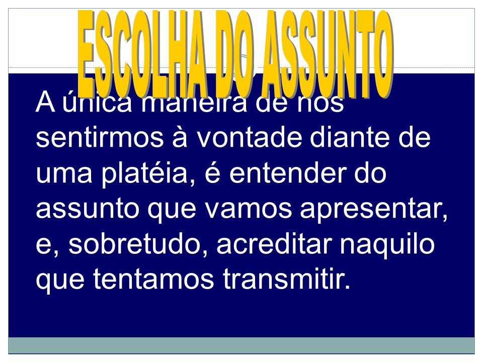 ESCOLHA DO ASSUNTO