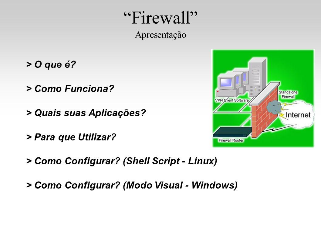 Firewall Apresentação > O que é > Como Funciona