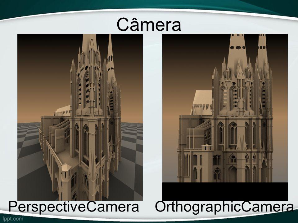 Câmera PerspectiveCamera OrthographicCamera