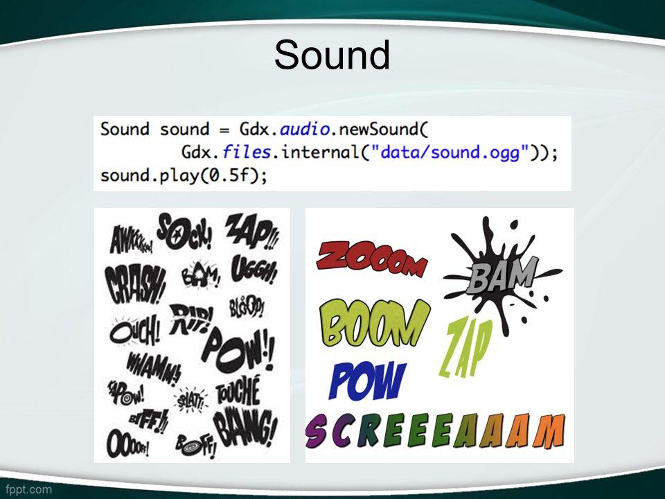 Sound -Sound: Ideal para efeitos sonoros (arquivos pequenos). Fica carregado inteiro na memória.