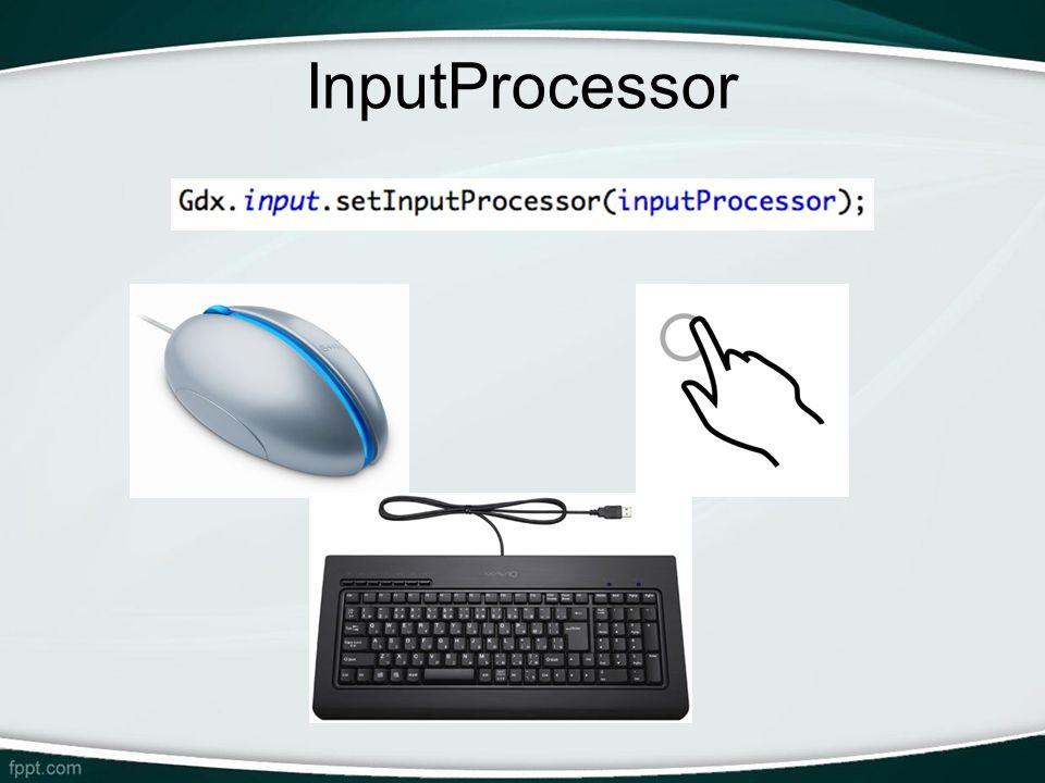 InputProcessor -Interface utilizada para tratar input de dados.
