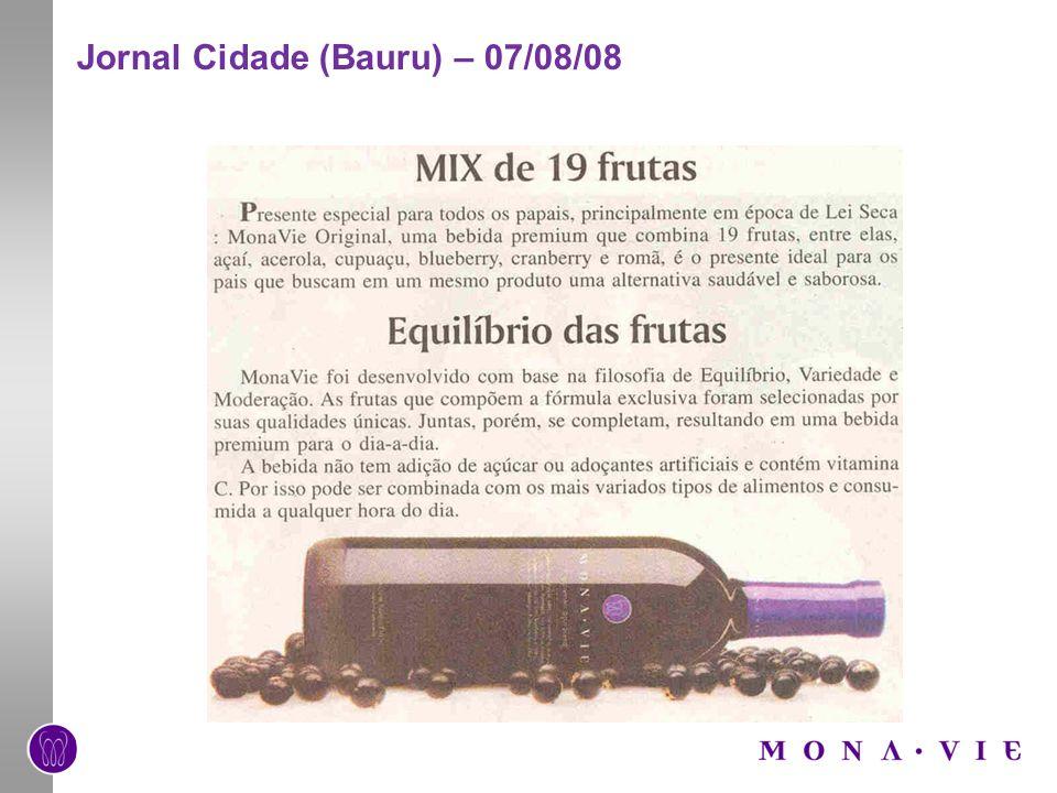 Jornal Cidade (Bauru) – 07/08/08