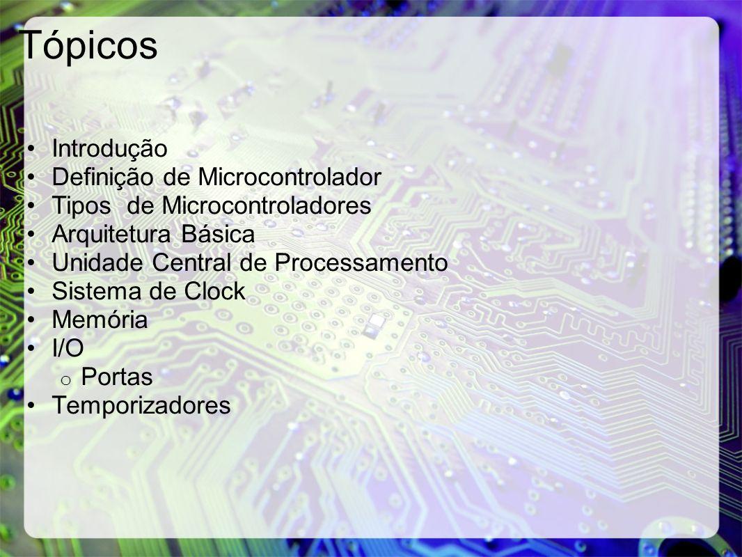 Tópicos Introdução Definição de Microcontrolador