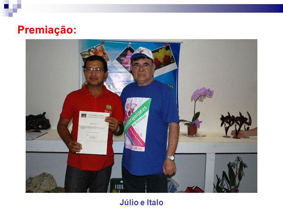 Premiação: Júlio e Italo