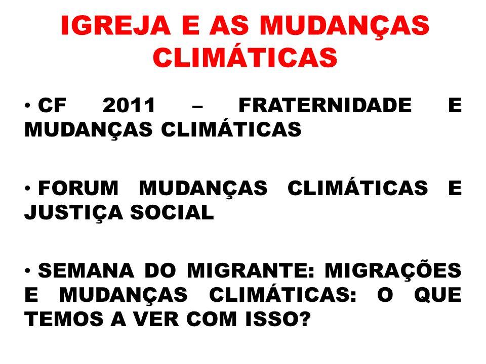 IGREJA E AS MUDANÇAS CLIMÁTICAS