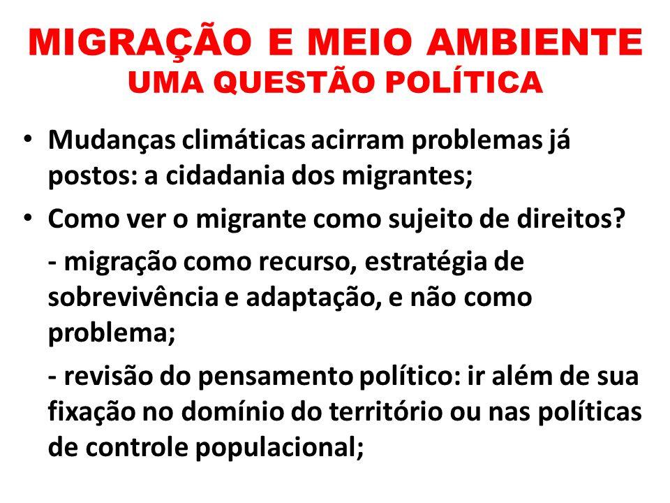 MIGRAÇÃO E MEIO AMBIENTE UMA QUESTÃO POLÍTICA