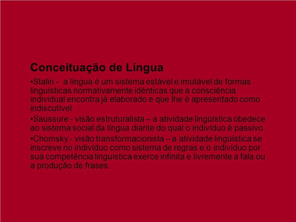 Conceituação de Língua