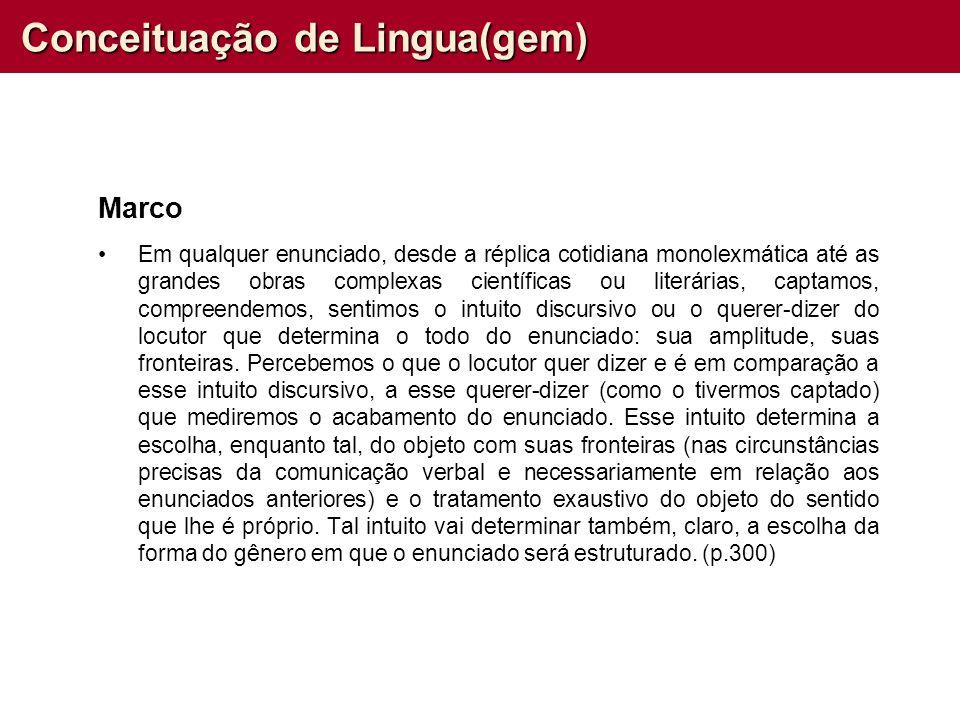 Conceituação de Lingua(gem)