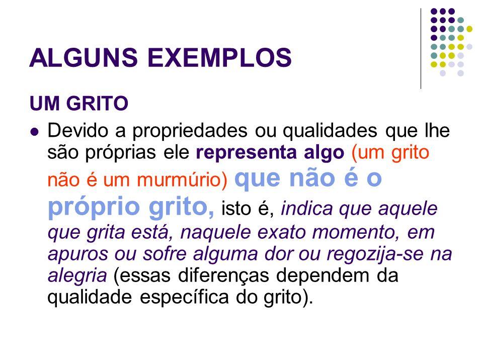 ALGUNS EXEMPLOS UM GRITO