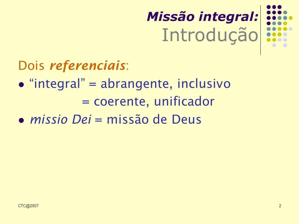 Missão integral: Introdução