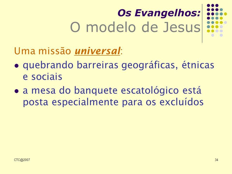 Os Evangelhos: O modelo de Jesus