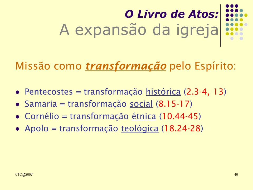 O Livro de Atos: A expansão da igreja