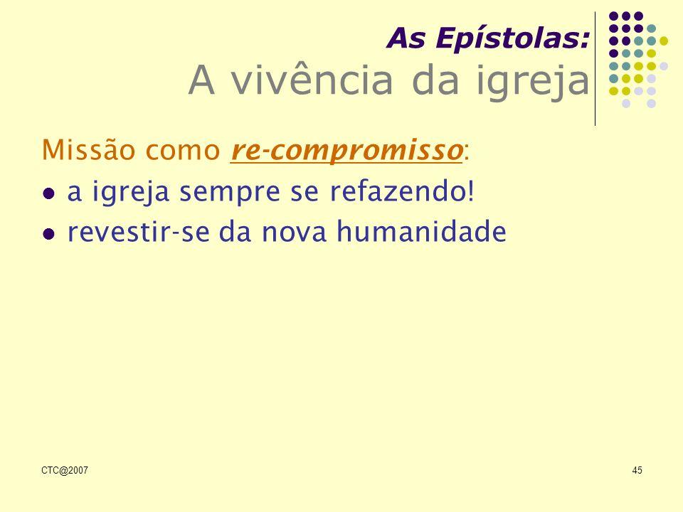As Epístolas: A vivência da igreja