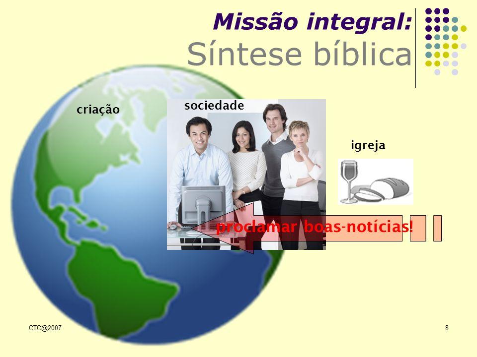 Missão integral: Síntese bíblica