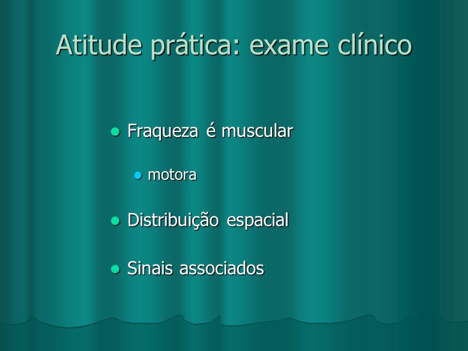 Atitude prática: exame clínico