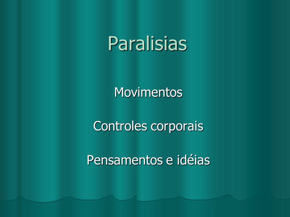 Movimentos Controles corporais Pensamentos e idéias