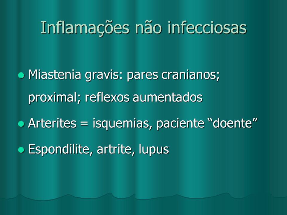Inflamações não infecciosas