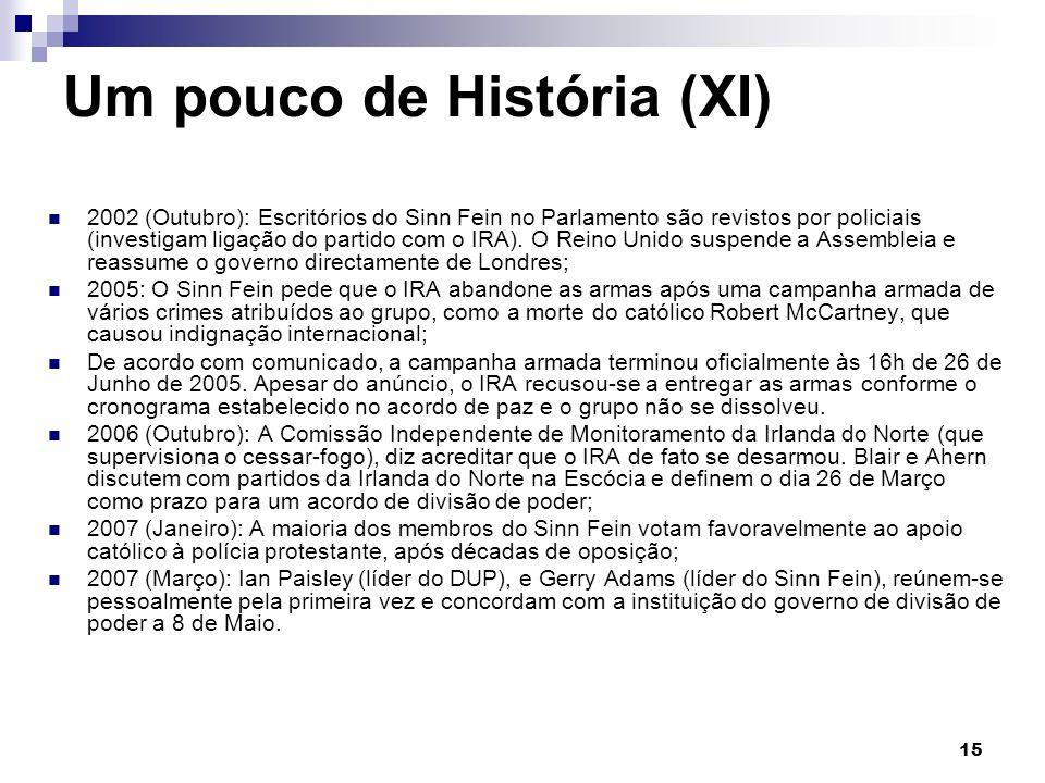 Um pouco de História (XI)