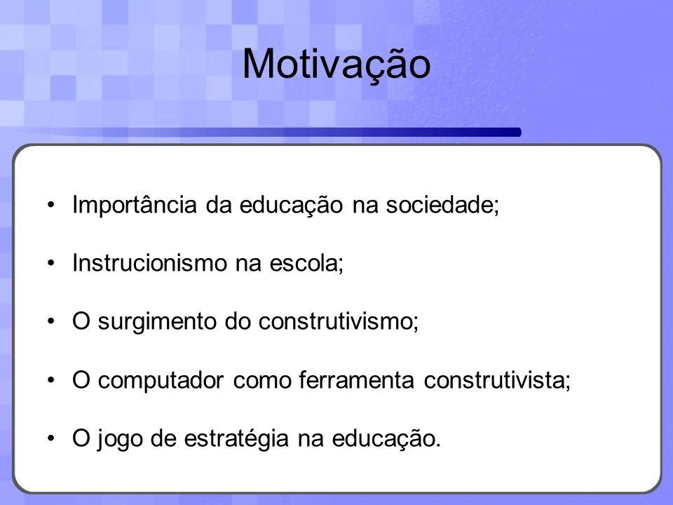 Motivação Importância da educação na sociedade;