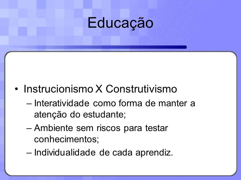 Educação Instrucionismo X Construtivismo
