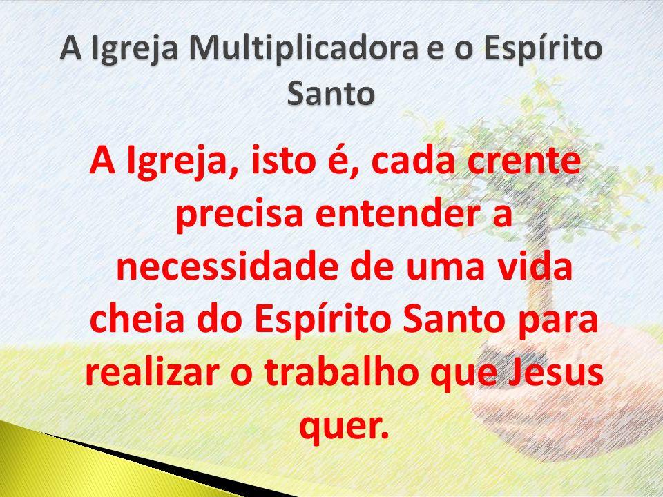A Igreja Multiplicadora e o Espírito Santo