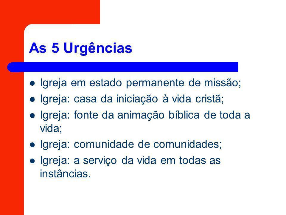 As 5 Urgências Igreja em estado permanente de missão;